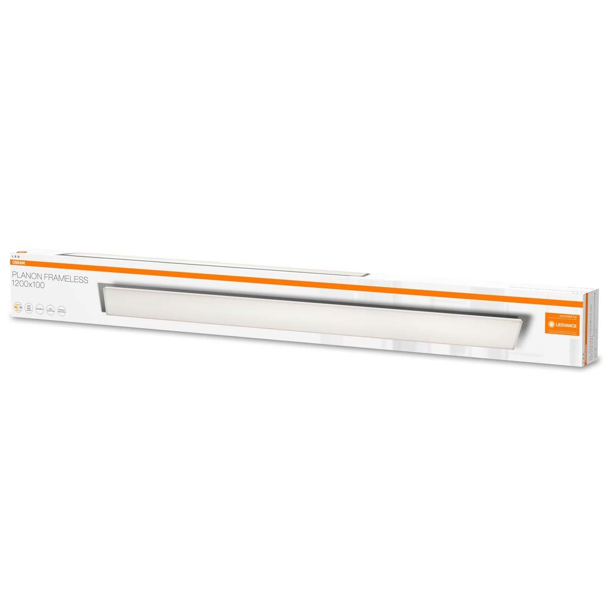 f/ür innenanwendungen Warmwei/ß L/änge: 120x30 cm Osram LED Planon Frameless Panel-Leuchte