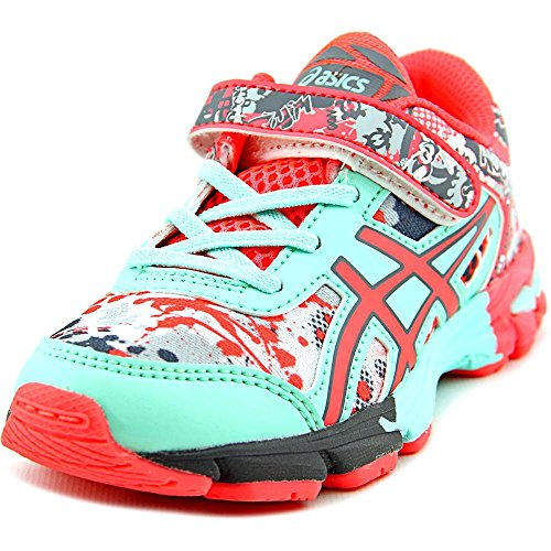 Price comparison product image ASICS Gel-Noosa Tri 11 PS Running Shoe Little Kid,  White / Diva Pink / Mint,  10 M US Little Kid