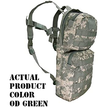 Molle Hydration Backpack Pack with Bladder-OD Green