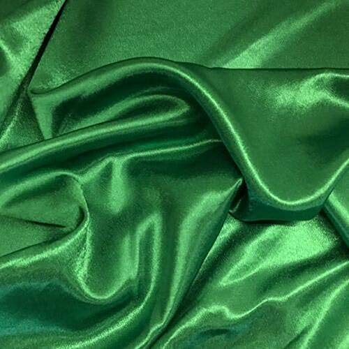 Pappermint Store Kelly Green Crepe Back Satin Bridal Fabric Drapery Soft 60