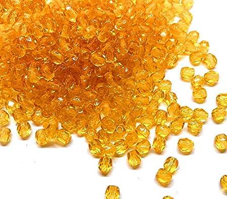 100 perlas de cristal de Bohemia pulidas, de 3 mm, pulidas a fuego, redondas, cuentas redondas checas, perlas de cristal en color a elegir, cristal, Color marrón., 3 mm
