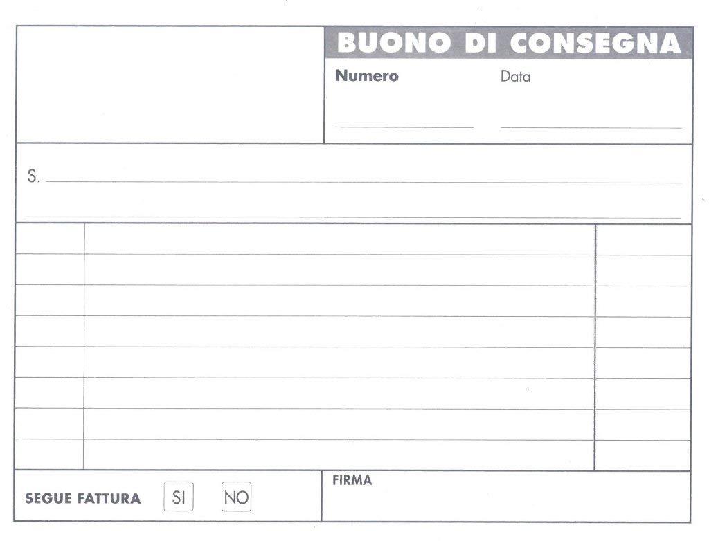 BLOCCO BUONI DI CONSEGNA 50/50 165x120mm RIC ART360 BM B&M