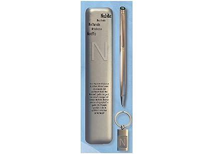 Set estuche bolígrafo con llavero letra N Cartal: Amazon.es ...