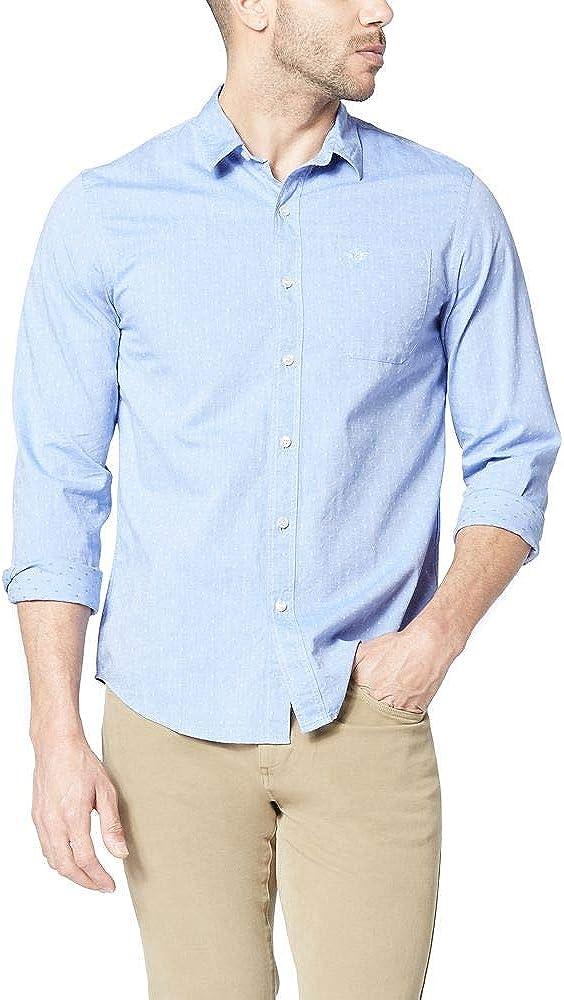 Dockers Men's Long Sleeve Poplin Shirt