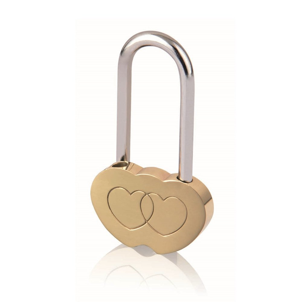 Double Heart Shaped Lock Love Locks Engraved Padlock Valentines Anniversary Day Gifts Blessing No Key Lizipai HL01