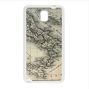 Best Custom Case - Antique Map of Italy Samsung Galaxy Note 3 III TPU (Laser Technology) Case, Cell Phone Cover