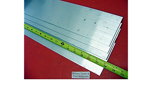 """2 Pieces 1-1//2/""""x 4/"""" ALUMINUM 6061 FLAT BAR 18/"""" long T6511 Solid Plate Mill Stock"""