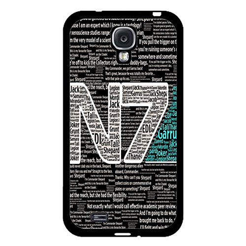 Coque Samsung Galaxy S4 I9500 N7 Unique Design Cover Shell Special Creative Quotes Design RPG Game Mass Effect N7 Logo Design Phone Case Cover for Coque Samsung Galaxy S4 I9500,Cas De Téléphone