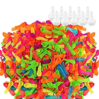 KOMIWOO 1000 Pack Water Balloons with Refill Kits, Latex Water Bomb Fight Games - Summer Splash Fun for Kids and Adults
