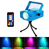 AKDSteel Stage Light 7 Color Water Ripples Projector Ocean Wave Strobe Lamp Auto Flash Sound Activated LED Disco Dj Party Lights with Remote Controller for Bar Party KTV Home Clubs Wedding