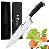 #6: Chef's Knife Professional 8 inch High Carbon Stainless Steel Chef Knife Sharp Blade and Ergonomic Handle Kitchen Knife
