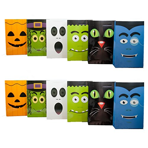 Spooktacular Halloween Faces Party Bag Pack of 12