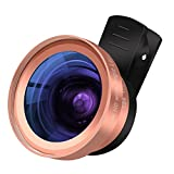 Cell Phone Camera Lens - TURATA 2 in 1 Professional HD Camera Lens Kit 0.45X Super Wide Angle & 15X Macro Lens for iPhone 8 7 6s 6s plus 6 plus 5s & Most Smartphone, Tablet (Rose Gold)