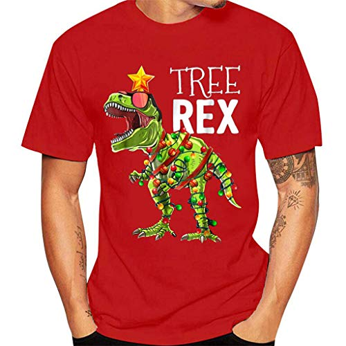 Mens Personalized Novelty Christmas Theme Printed T-Shirts Short Sleeve Tops Crew Neck Xmas Holiday Tees – The Super Cheap