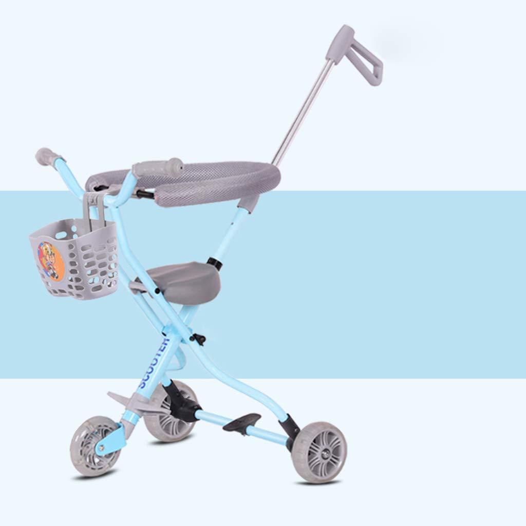 赤ちゃんの四輪の粉々に抵抗する軽量折りたたみの子供のトロリートレンドアドベンチャー旅行システムの範囲航空アルミニウム青6-3 (サイズ さいず : XL) XL  B07GZTDCSS