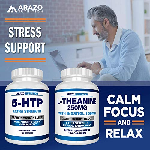 5-HTP 200 mg Supplement - 120 Capsules - Arazo Nutrition by Arazo Nutrition (Image #5)