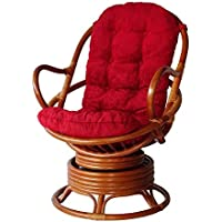 Cushion for Living Lounge Swivel Rocking Chair color Red(Just Cushion)