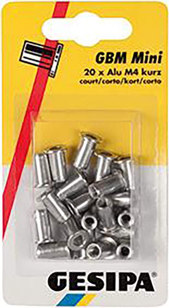 Dresselhaus 0/2957/000/4,0/ / /99 Gesipa-Blindnietmuttern Mini-Pack, Alu, kurz, M4, 20 Stü ck, Grau Dresselhaus GmbH & Co. KG 0/2957/000/   4 0/     /     /99