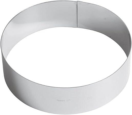 Paderno Anello per Torte//Coppapasta in Acciaio Inox 18//10 Diametro 20 cm Altezza 6 cm