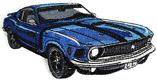 Mustang Patch - Classic Cars Collection [Mustang 69 Boss] [American Automobile History in Embroidery] Embroidered Iron On/Sew Patch [6.2