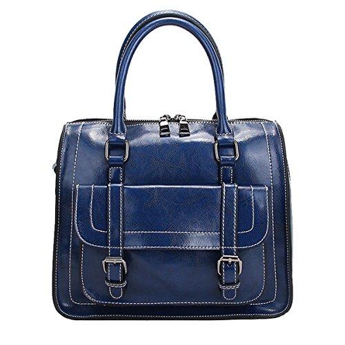 épaule portés Sac en Bleu main bandoulière femme portés Sac cuir à M076 Sac Sac fashion Valin main LF vYBn76