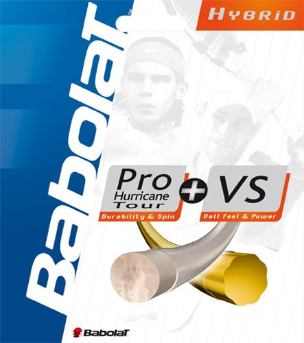 Babolat Hybrid Pro Hurricane Tour 17 VS Gut 16 Tennis String (Babolat Hurricane Pro String)