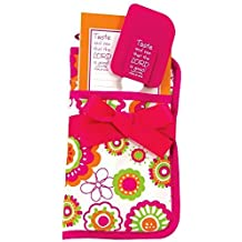 Brownlow Kitchen Brownlow Gifts Potholder Gift Set with Scripture, Pink/Orange/Green by Brownlow Kitchen