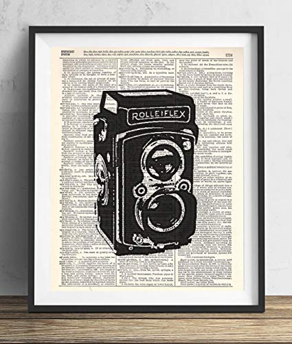 Vintage Camera (#3) Upcycled Dictionary Art Print 8x10 (Antique Camera Poster)
