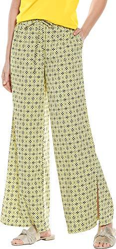 Coolibar UPF 50+ Women's Petra Wide Leg Pant - Sun Protective (Small- Multicolor Province Geo)