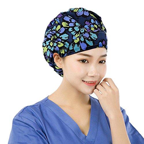 EINSKEY Adjustable Surgical Scrub Cap Medical Doctor Bouffant Hat with Sweatband Scrub Hat for Women/Men