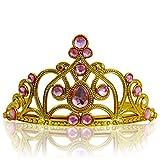 Katara 1682 - Princess Tiara Fancy Costume Accessory, Girls 3-11 Gold, Light Pink