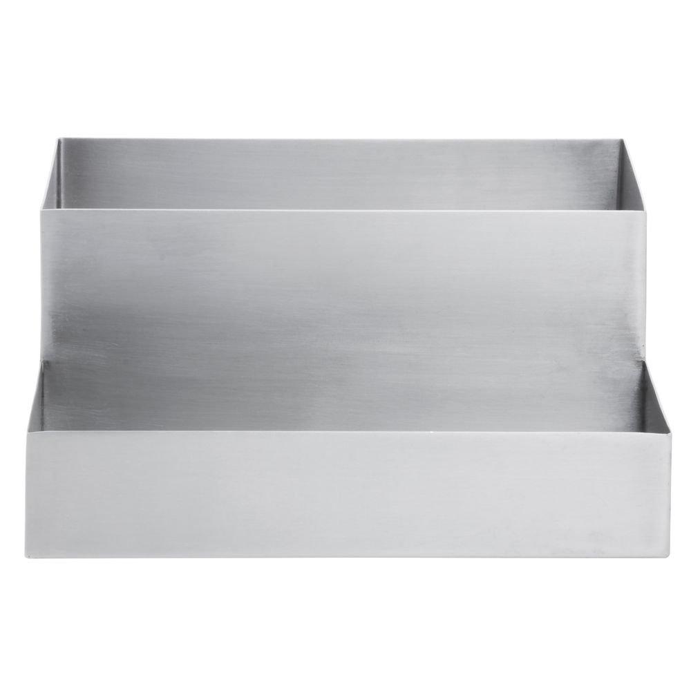 Hubert Condiment Holder Stainless Steel 2-Tier - 9 3/4''L x 8''W x 4 1/2''H