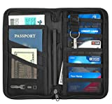 Travelambo Travel Wallet, Passport Holder, Wallet RFID Blocking Credit Card Holders for Men & Women (black)