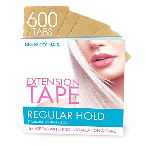 Hair Extension Tape REGULAR Hold Compatible with Hot Heads, Hairdreams, Babe & Most Other Brands, 4cm x .8cm Hair Extension Tape, Professional Double Sided Extension Tape Review