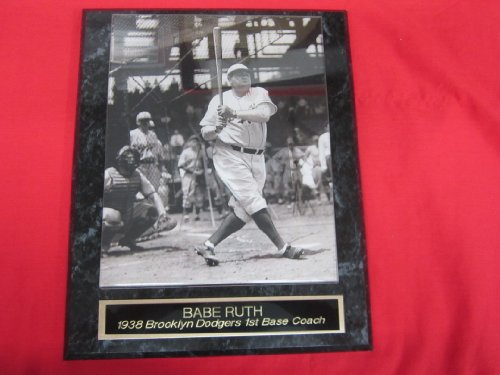 Babe Ruth Brooklyn Dodgers Engraved Collector Plaque #3 w/8x10 RARE -