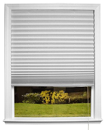 "Original Corded Lift Sheer View Solar Fabric Shade White, 36"" x 72'' by Redi Shade"