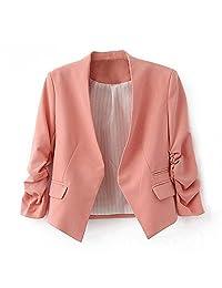 Ninimour- Korea Style Women's Blazer Jacket Suit Work Casual