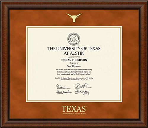 University of Texas Austin Embossed Block Diploma Frame 19''x 22'' by Church Hill Classics