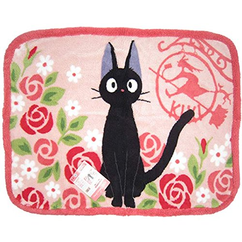 Kikis Delivery Service Black Cat Jiji Blankets Fluffy Rose by Studio Ghibli