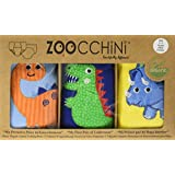 Zoocchini Boys 3 Piece Organic Training Pant Set-Jurassic (3T-4T), Multi