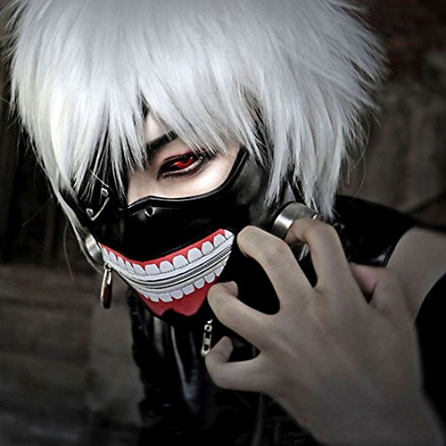 Tokyo Ghoul Kaneki Ken Adjustable Costume Mask Cosplay Halloween PU Leather Mask -