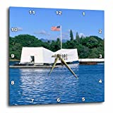 3dRose WWII Arizona Memorial, Pearl Harbor, Hawaii, – Us12 Dpb0116 – Douglas Peebles – Wall Clock, 13 by 13-Inch (dpp_89547_2)