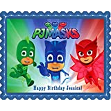 PJ MASKS (3) - Edible Cake Topper - 7.5