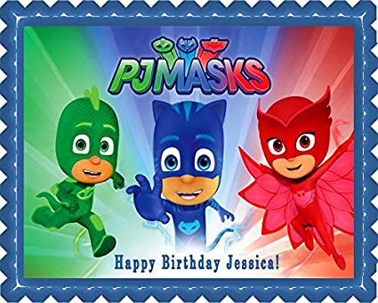 "PJ MASKS (3) - Edible Cake Topper - 7.5"" x 10"" ("