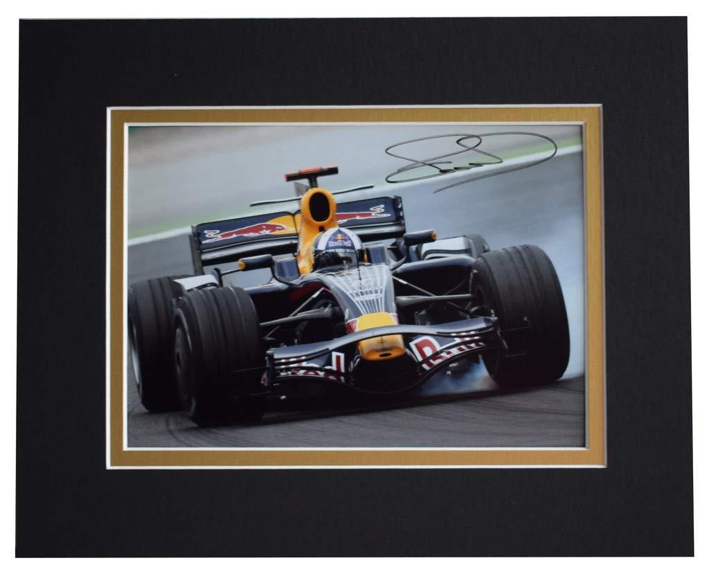 Sportagraphs David Coulthard Signed Autograph 10x8 photo display Formula 1 Racing AFTAL COA