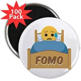 CafePress - Emoji Sad FOMO - 2.25'' Magnet (100 pack)