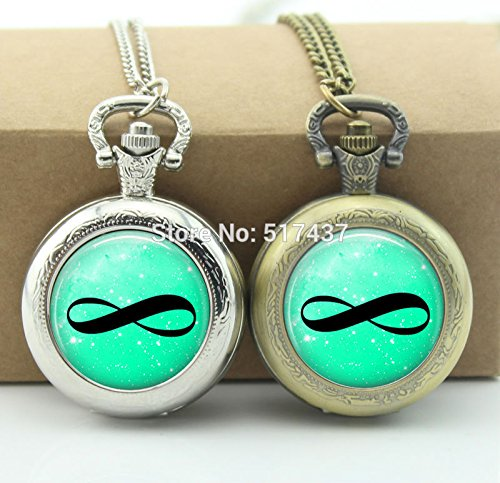 Amazon.com : Pretty Lee Infinity Pocket Watch Infinity ...