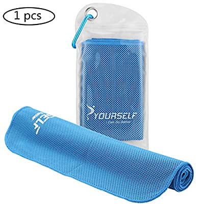 """SYOURSELF 4 Pack,6 Pack Cooling Towels Set for Instant Relief-Cool Bowling Fitness Yoga Towel Set- 40""""x12"""" Use as Neck Headband Bandana Scarf,Stay Cool for Travel Camping Golf Football&Outdoor Sports"""