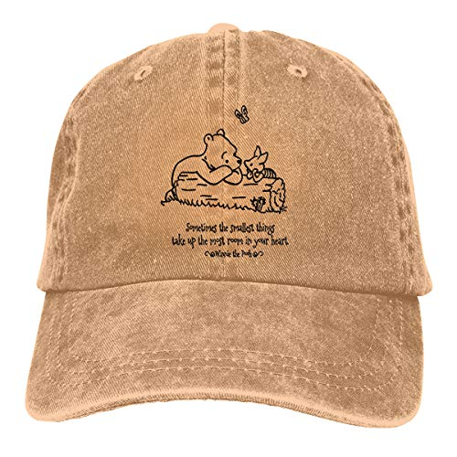 NEXT DAY ONE Donkey Piglet Winnie Pooh Eeyore Baseball Caps Adjustable Denim Fabric Hat ()