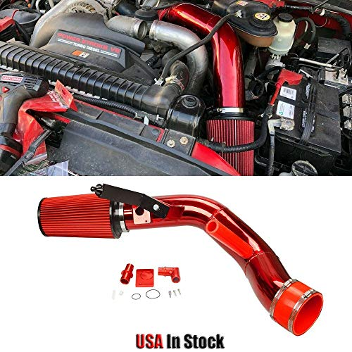 250 Die - Machine Supplies Cold Air Intake Kit Compatible with 03-07 Ford F-250 F-350 Excursion 6.0L Powerstroke Diese